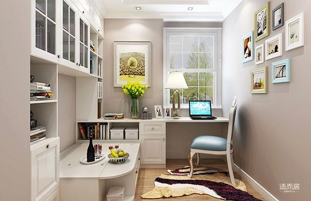 书房用榻榻米和书桌柜组合完成功能需求